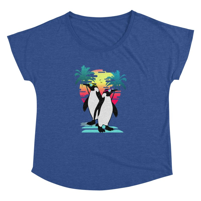 Summer Penguin Women's Dolman Scoop Neck by clingcling's Artist Shop