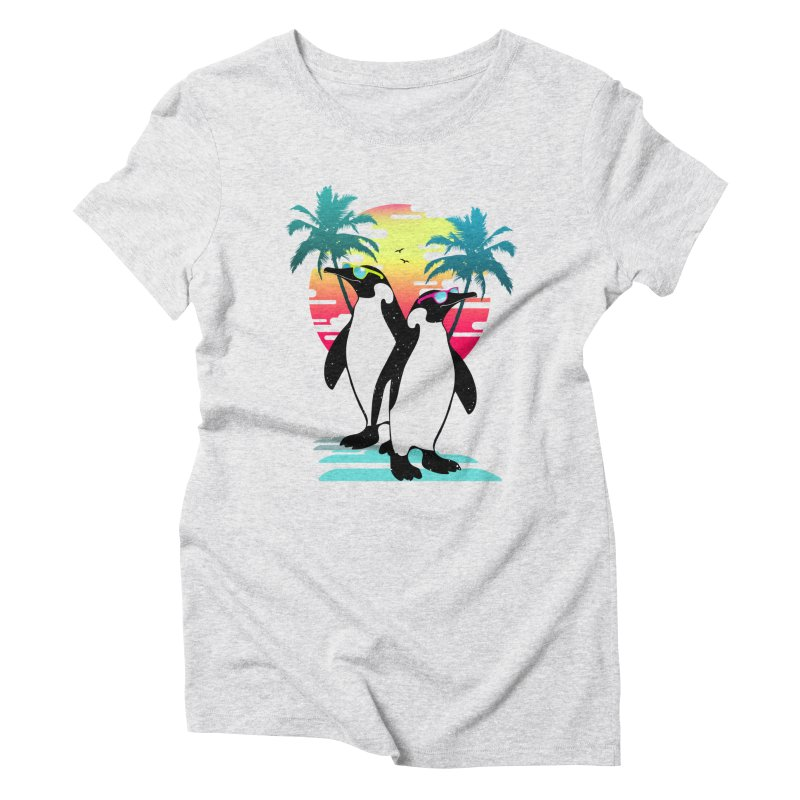 Summer Penguin Women's Triblend T-Shirt by clingcling's Artist Shop