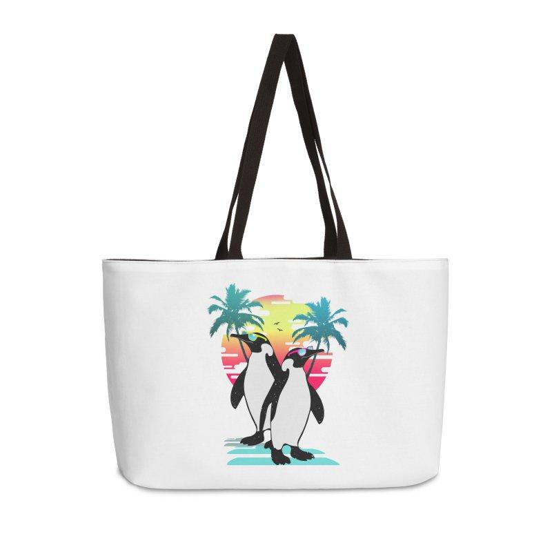 Summer Penguin Accessories Weekender Bag Bag by clingcling's Artist Shop