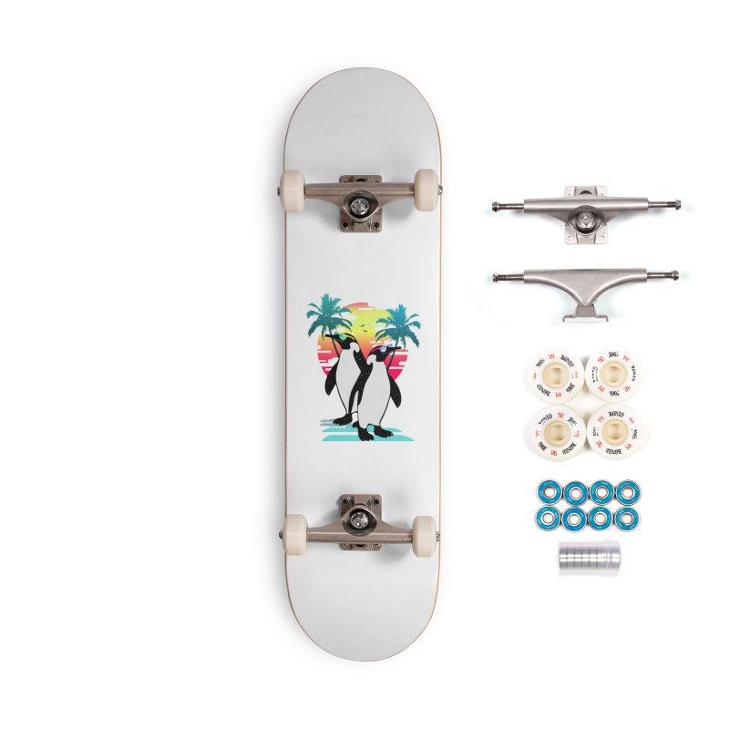 Summer Penguin Accessories Complete - Premium Skateboard by clingcling's Artist Shop