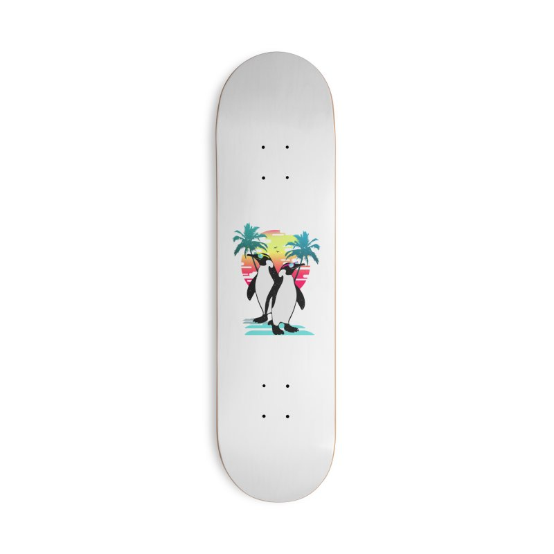 Summer Penguin Accessories Deck Only Skateboard by clingcling's Artist Shop