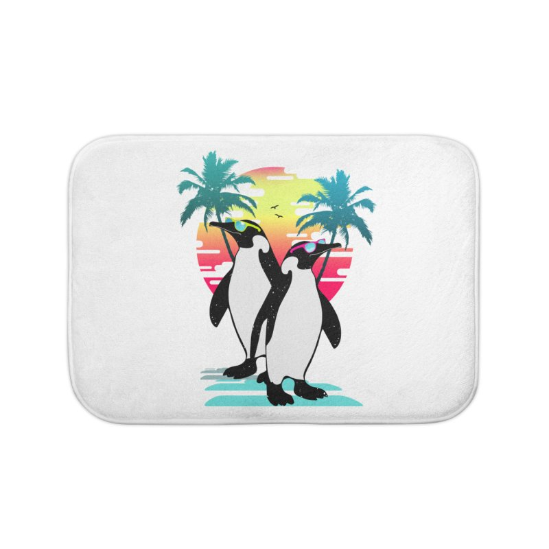 Summer Penguin Home Bath Mat by clingcling's Artist Shop