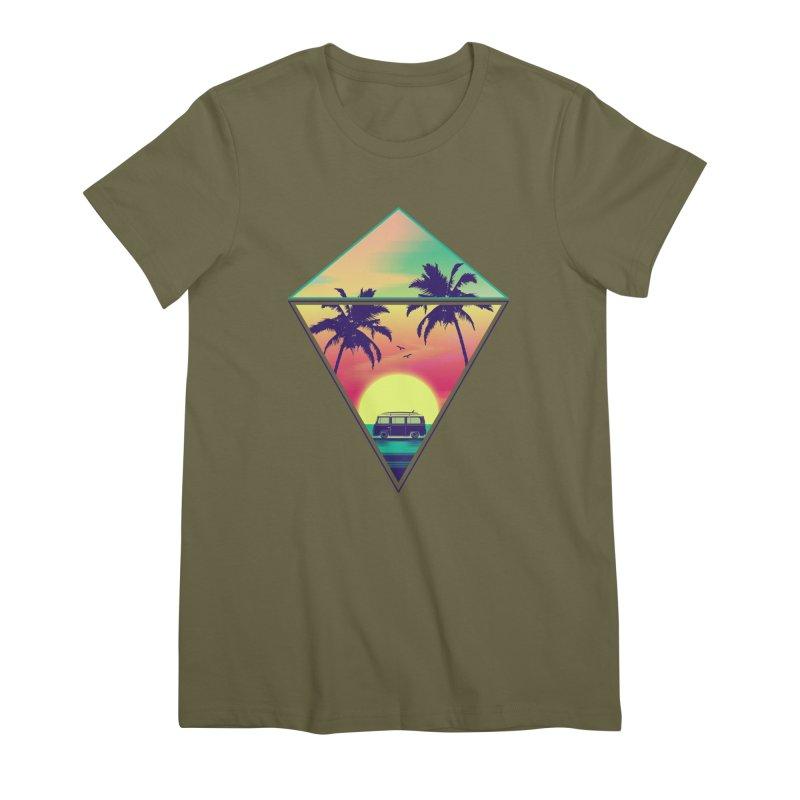 Summer Trip Women's Premium T-Shirt by clingcling's Artist Shop
