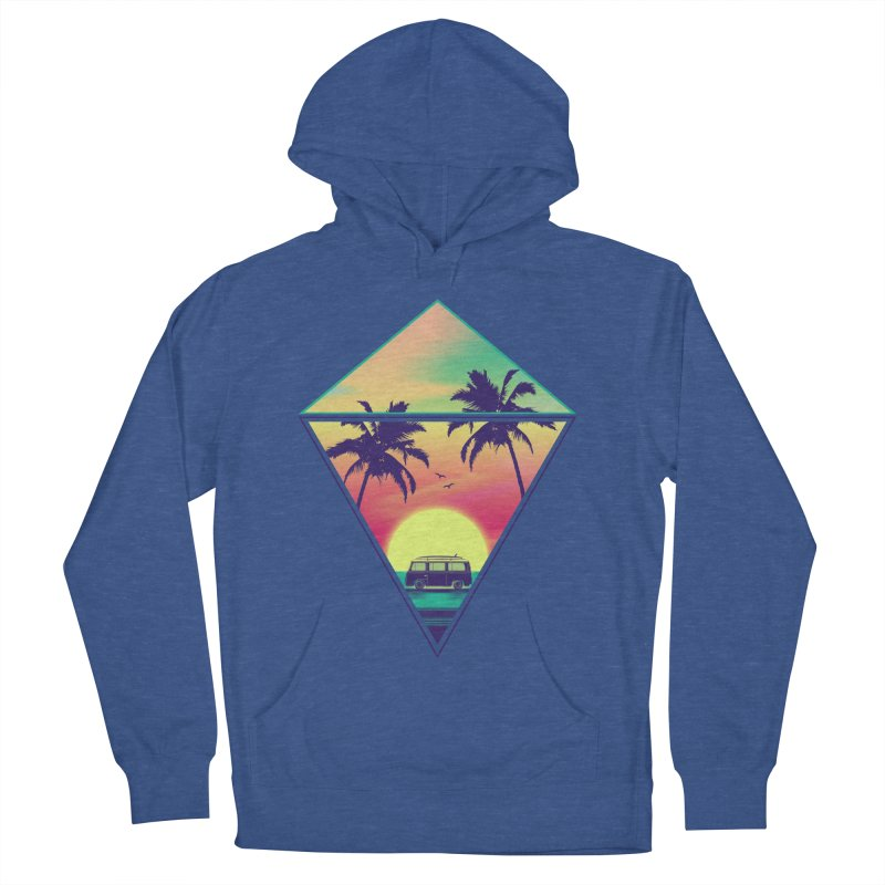 Summer Trip Men's French Terry Pullover Hoody by clingcling's Artist Shop