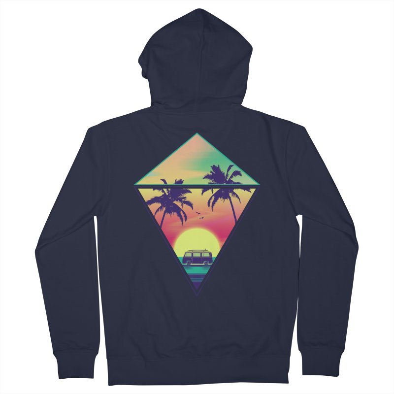 Summer Trip Women's French Terry Zip-Up Hoody by clingcling's Artist Shop