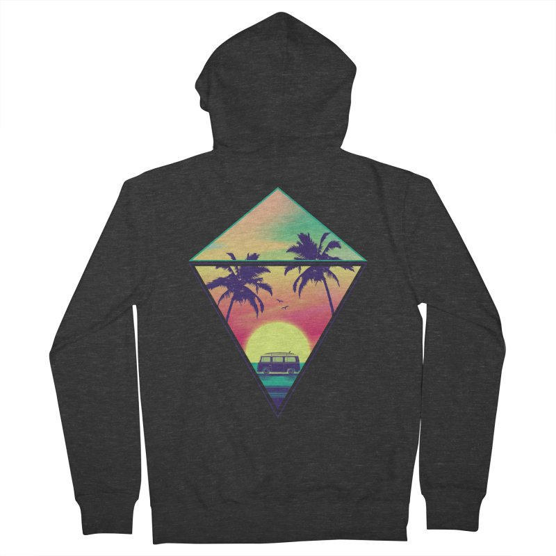 Summer Trip Men's French Terry Zip-Up Hoody by clingcling's Artist Shop