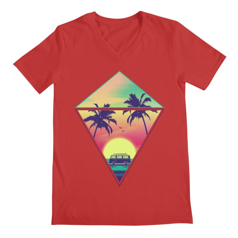 Summer Trip Men's Regular V-Neck by clingcling's Artist Shop