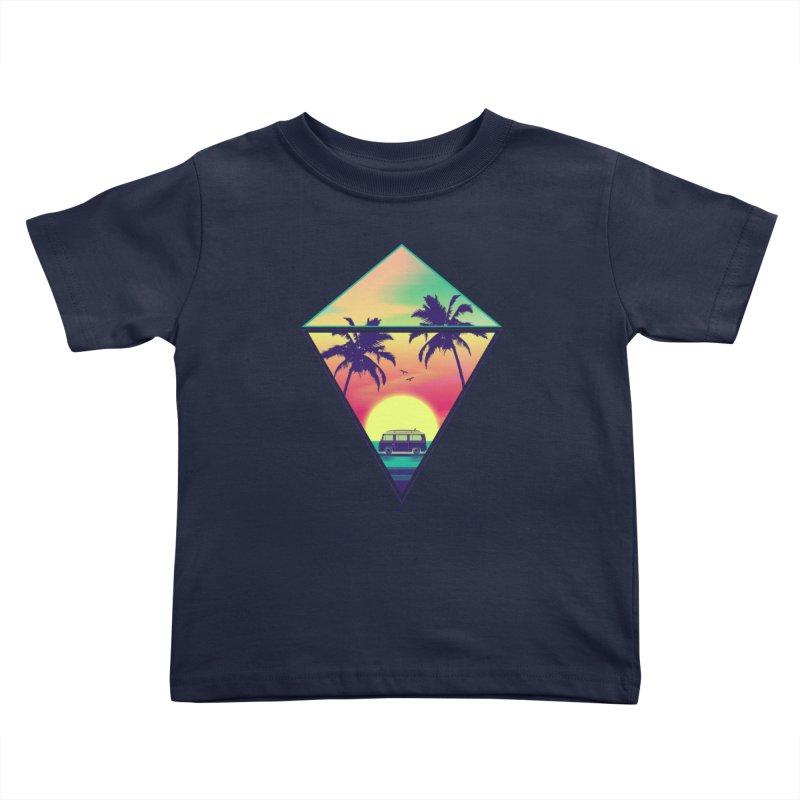 Summer Trip Kids Toddler T-Shirt by clingcling's Artist Shop