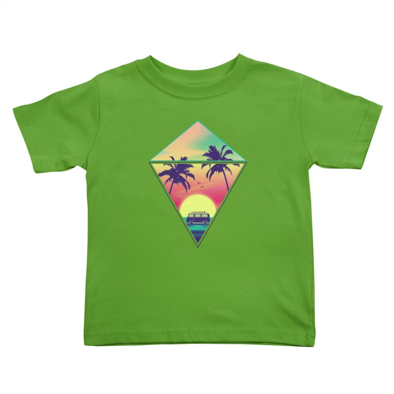 Summer Trip Kids Toddler T-Shirt by clingcling's Artist Shop