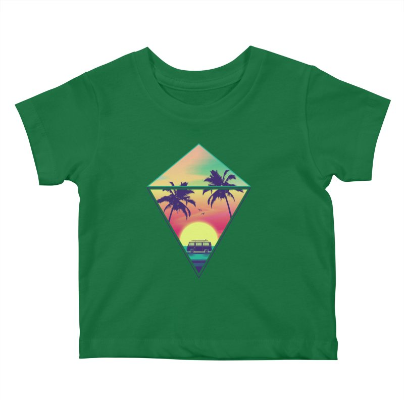 Summer Trip Kids Baby T-Shirt by clingcling's Artist Shop