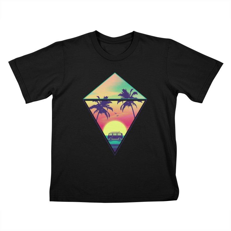 Summer Trip Kids T-Shirt by clingcling's Artist Shop