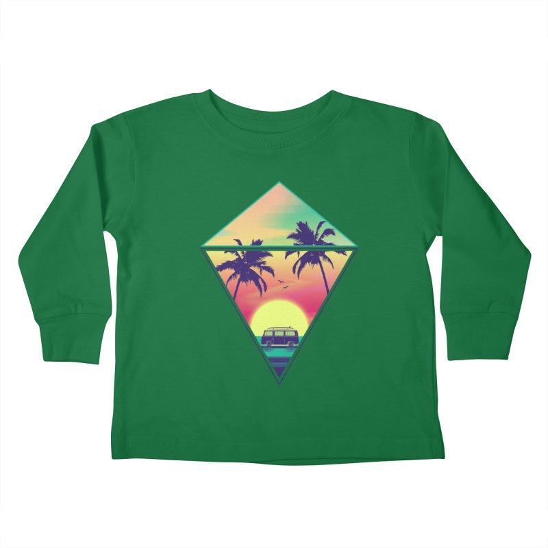 Summer Trip Kids Toddler Longsleeve T-Shirt by clingcling's Artist Shop
