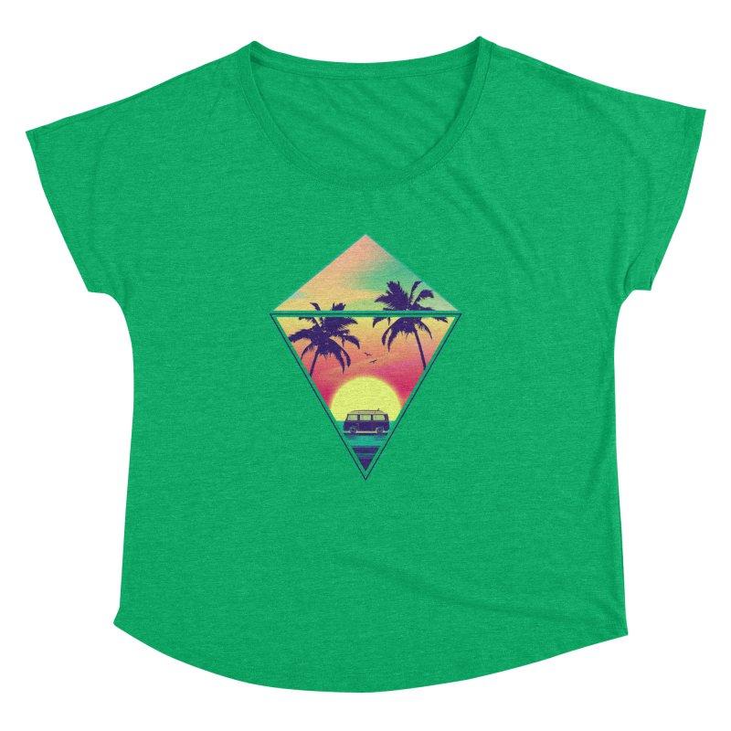 Summer Trip Women's Dolman Scoop Neck by clingcling's Artist Shop