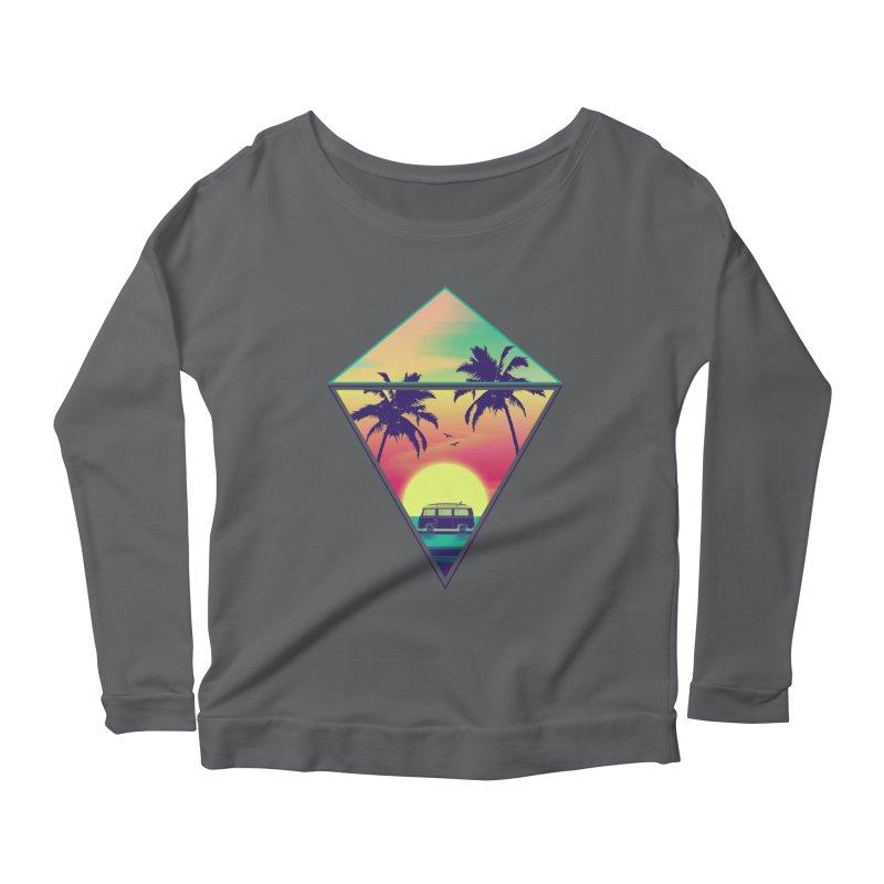 Summer Trip Women's Scoop Neck Longsleeve T-Shirt by clingcling's Artist Shop