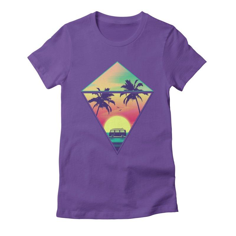 Summer Trip Women's Fitted T-Shirt by clingcling's Artist Shop