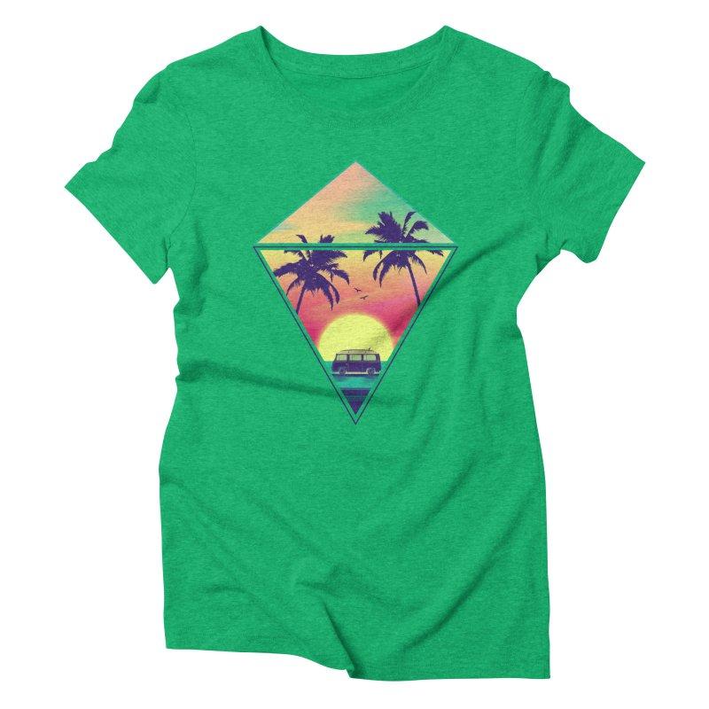 Summer Trip Women's Triblend T-Shirt by clingcling's Artist Shop
