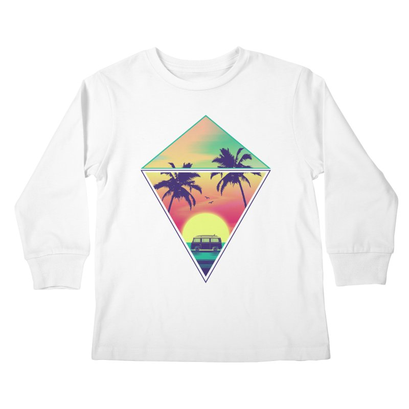 Summer Trip Kids Longsleeve T-Shirt by clingcling's Artist Shop