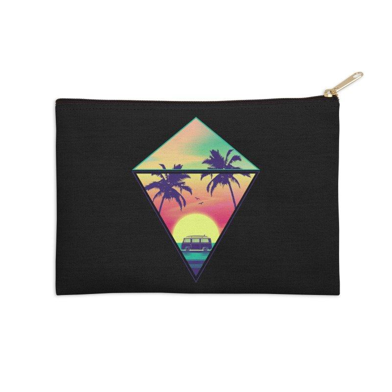 Summer Trip Accessories Zip Pouch by clingcling's Artist Shop