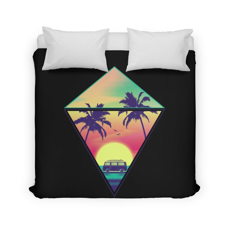 Summer Trip Home Duvet by clingcling's Artist Shop