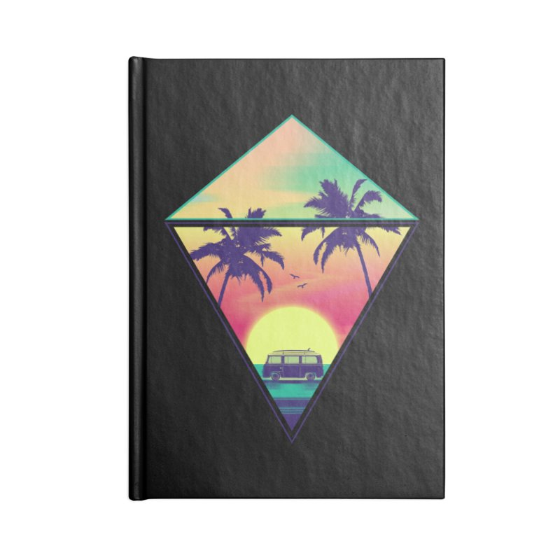 Summer Trip Accessories Lined Journal Notebook by clingcling's Artist Shop