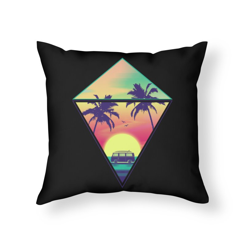 Summer Trip Home Throw Pillow by clingcling's Artist Shop