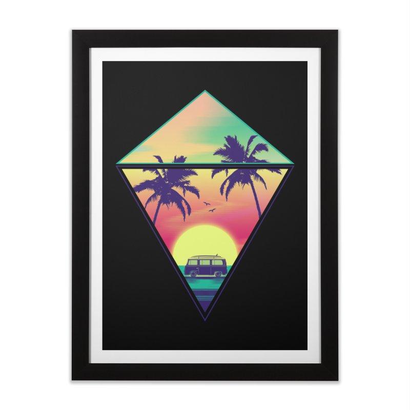 Summer Trip Home Framed Fine Art Print by clingcling's Artist Shop