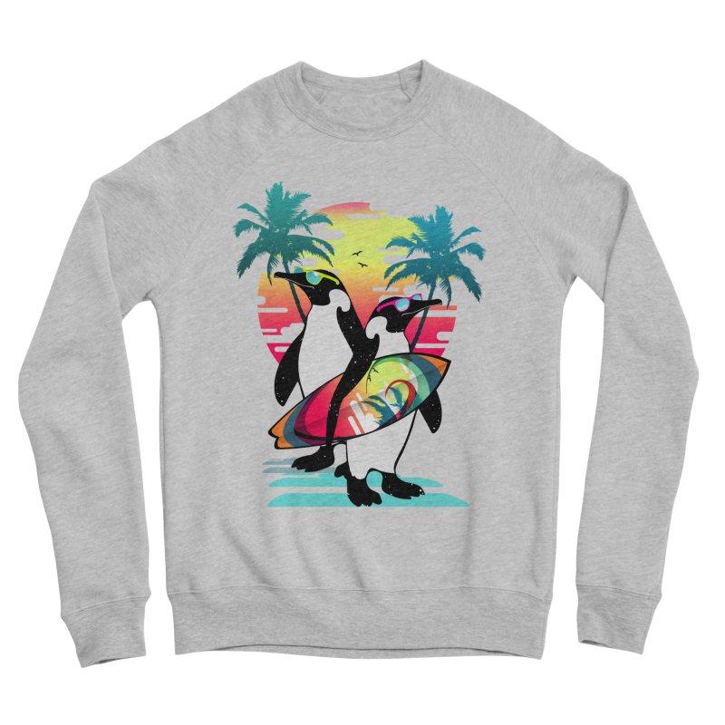 Surfer Penguin Men's Sponge Fleece Sweatshirt by clingcling's Artist Shop
