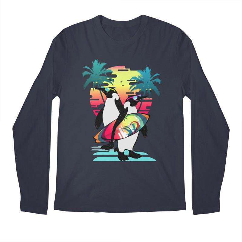 Surfer Penguin Men's Regular Longsleeve T-Shirt by clingcling's Artist Shop