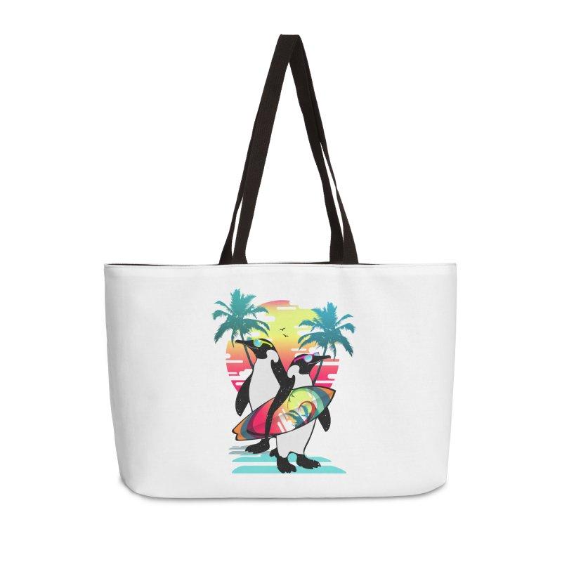 Surfer Penguin Accessories Weekender Bag Bag by clingcling's Artist Shop