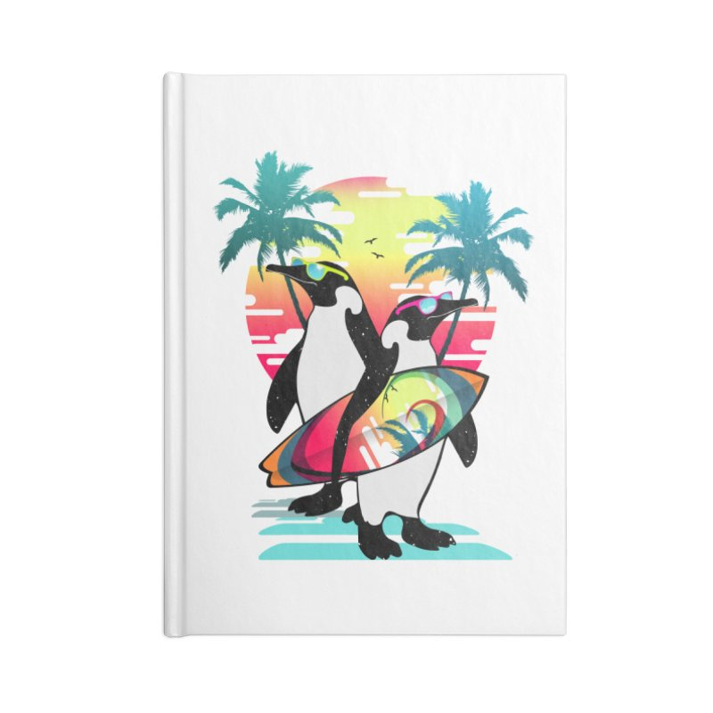 Surfer Penguin Accessories Blank Journal Notebook by clingcling's Artist Shop