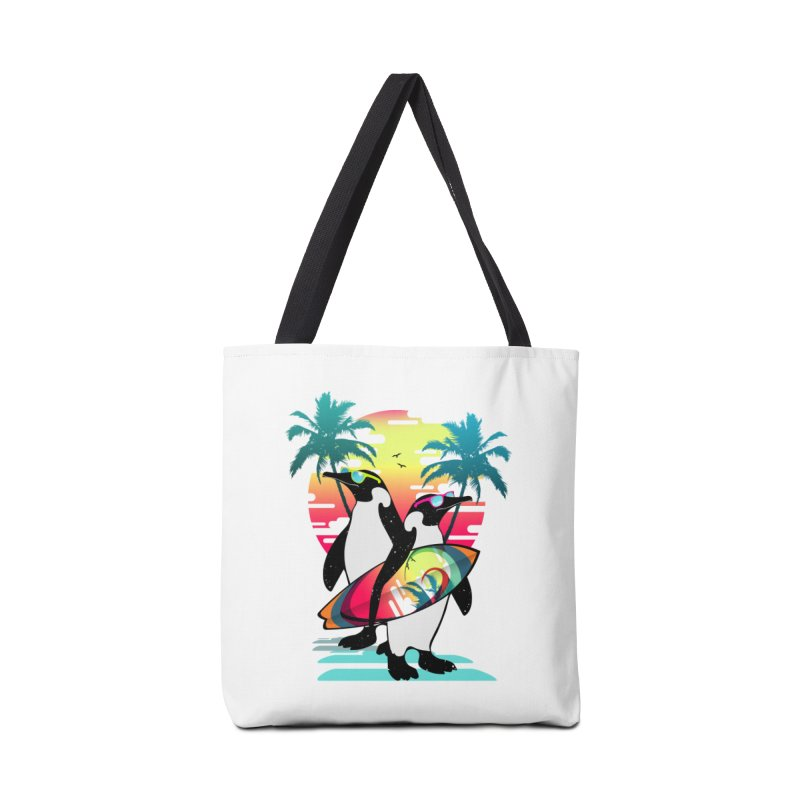 Surfer Penguin Accessories Tote Bag Bag by clingcling's Artist Shop
