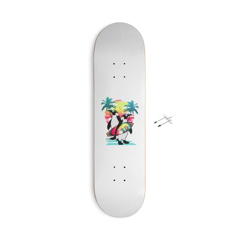 Surfer Penguin Accessories With Hanging Hardware Skateboard by clingcling's Artist Shop