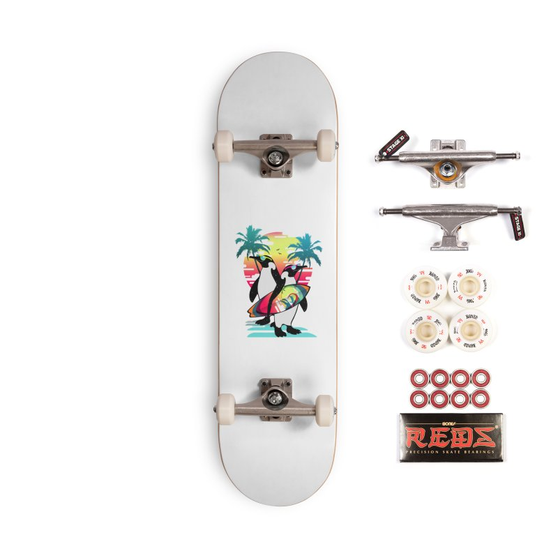 Surfer Penguin Accessories Complete - Pro Skateboard by clingcling's Artist Shop