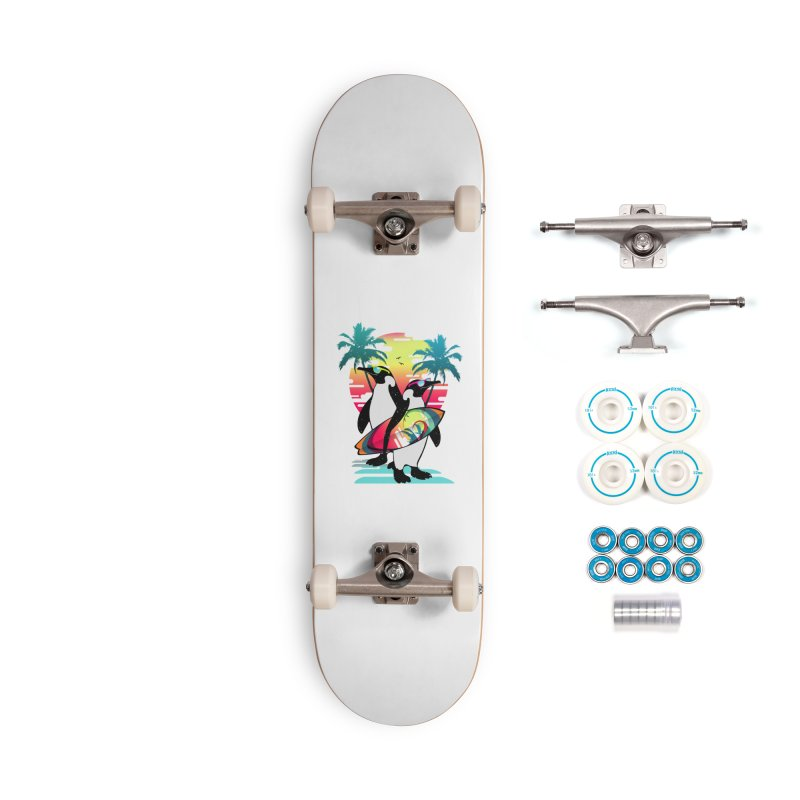 Surfer Penguin Accessories Complete - Basic Skateboard by clingcling's Artist Shop