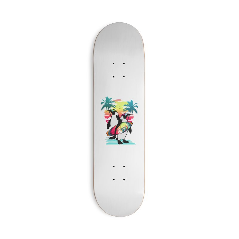 Surfer Penguin Accessories Deck Only Skateboard by clingcling's Artist Shop