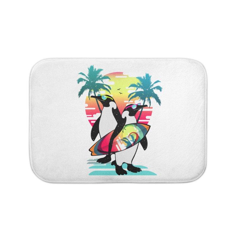 Surfer Penguin Home Bath Mat by clingcling's Artist Shop