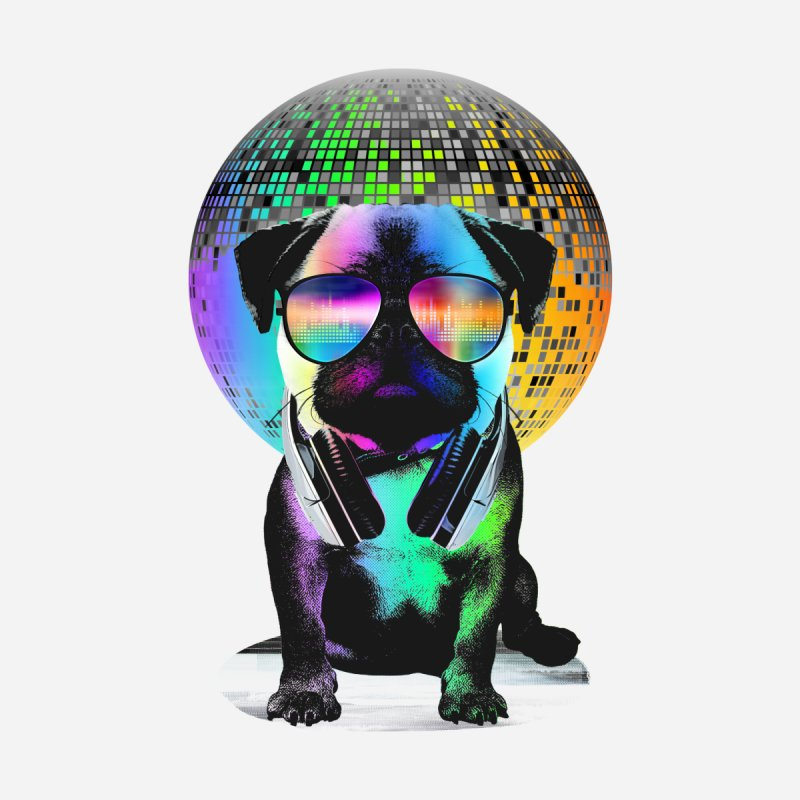 Disco Pug   by clingcling's Artist Shop