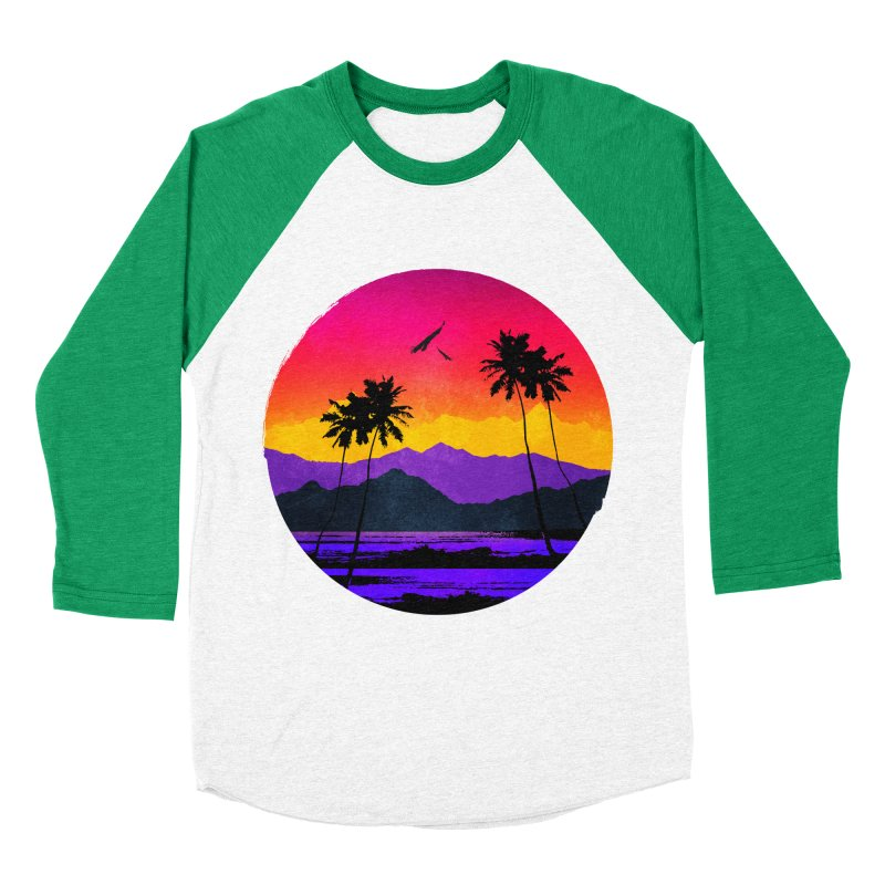 Paradise Women's Baseball Triblend T-Shirt by clingcling's Artist Shop
