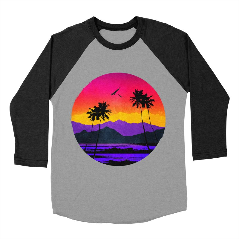 Paradise Women's Baseball Triblend T-Shirt by clingcling's Artist Shop