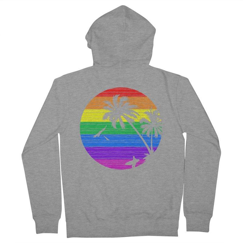 Rainbow Summer Women's Zip-Up Hoody by clingcling's Artist Shop