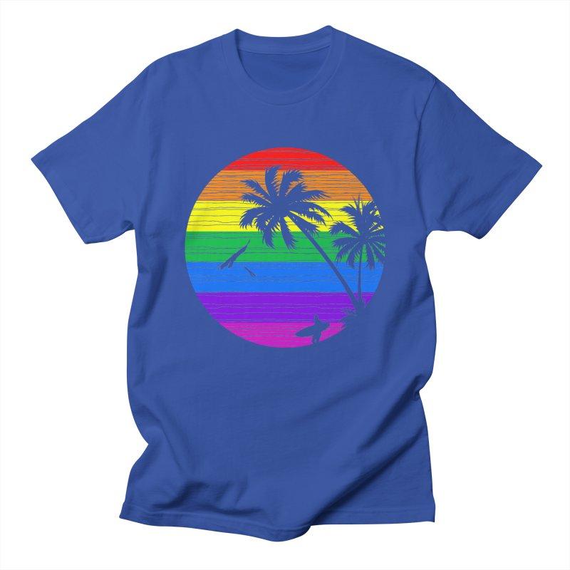 Rainbow Summer Men's T-shirt by clingcling's Artist Shop