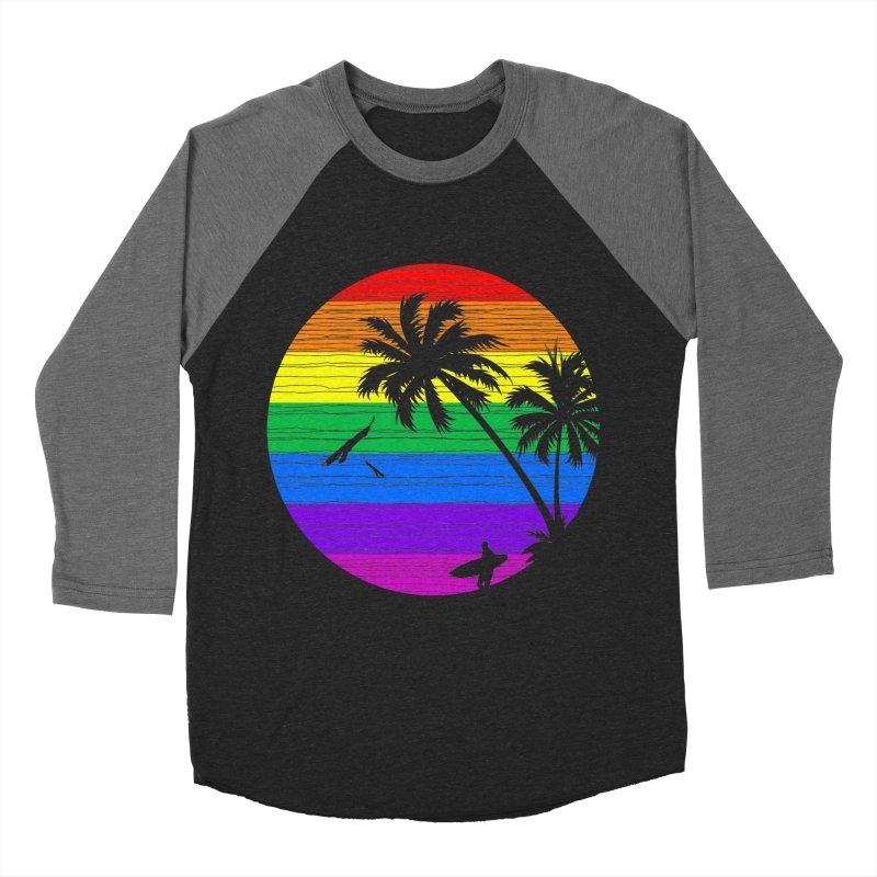 Rainbow Summer Women's Baseball Triblend T-Shirt by clingcling's Artist Shop