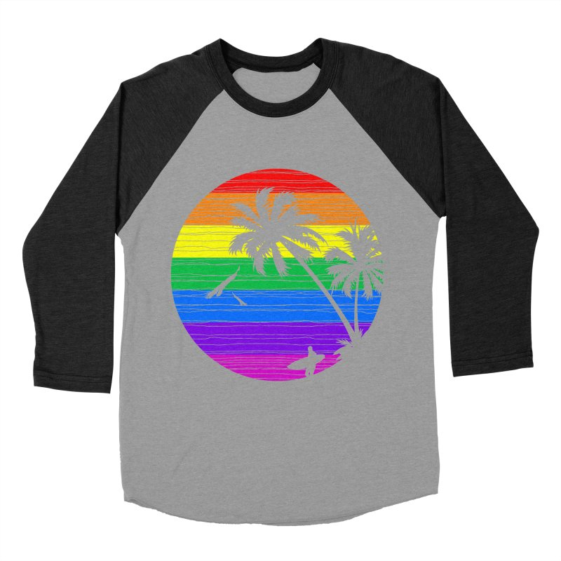 Rainbow Summer Women's Baseball Triblend T-Shirt by clingcling's Artist Shop