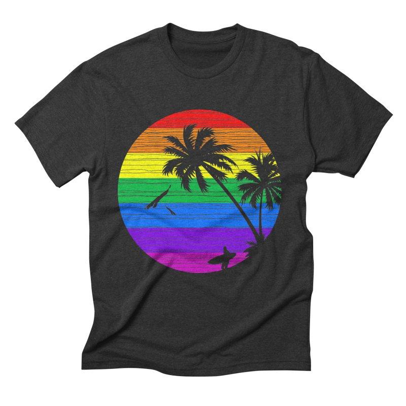 Rainbow Summer Men's Triblend T-shirt by clingcling's Artist Shop