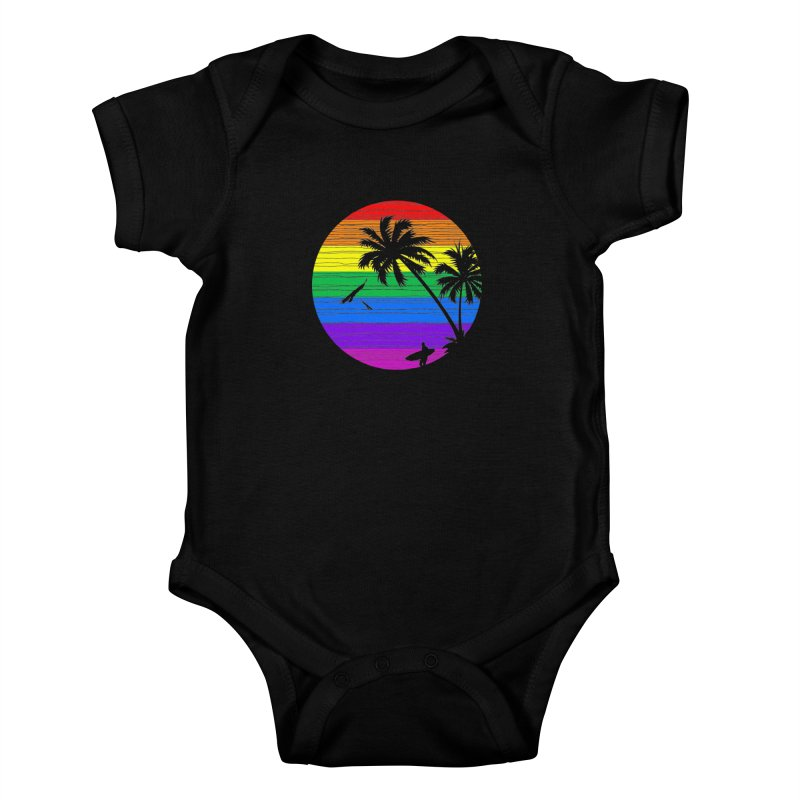 Rainbow Summer Kids Baby Bodysuit by clingcling's Artist Shop