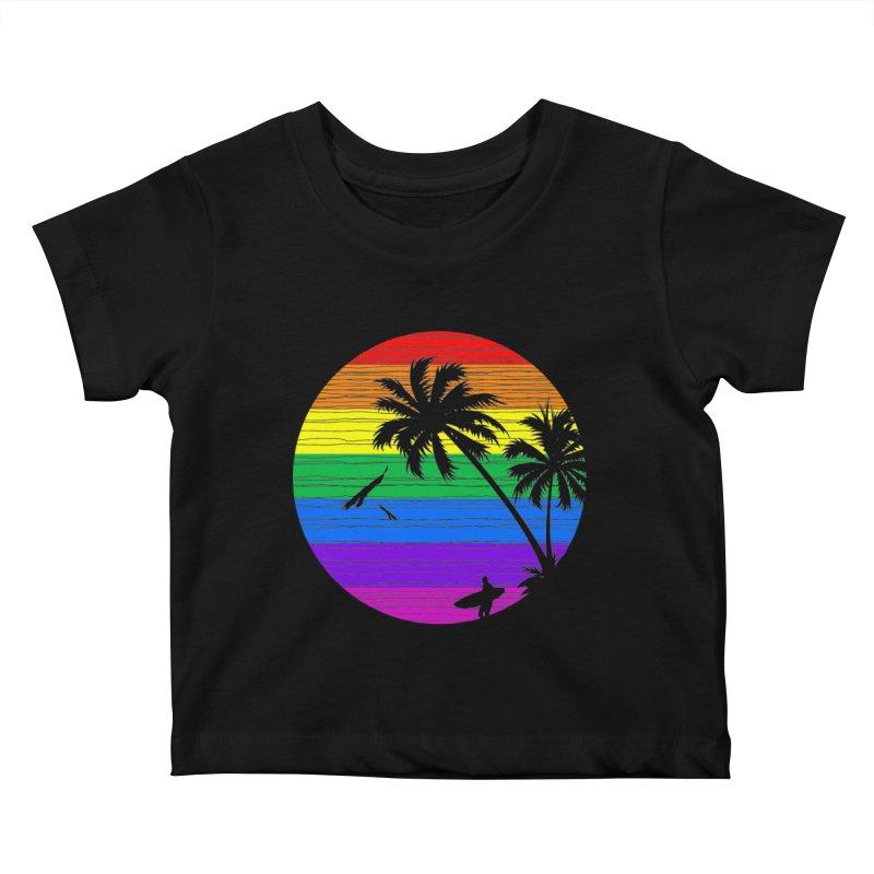 Rainbow Summer Kids Baby T-Shirt by clingcling's Artist Shop