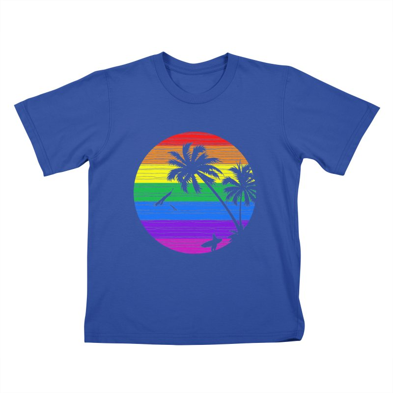 Rainbow Summer Kids T-shirt by clingcling's Artist Shop