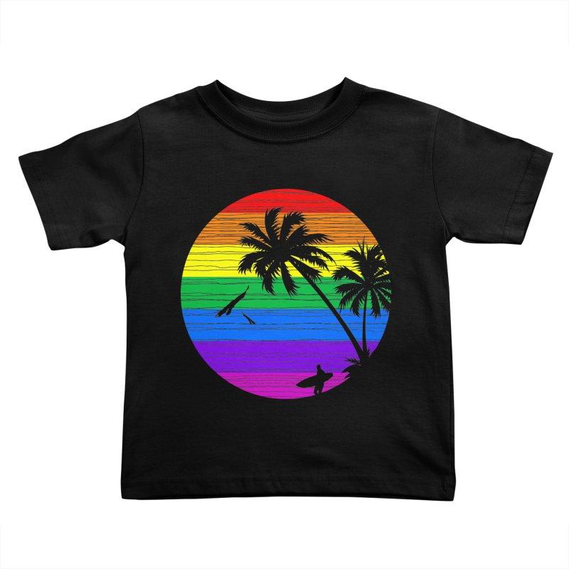 Rainbow Summer Kids Toddler T-Shirt by clingcling's Artist Shop
