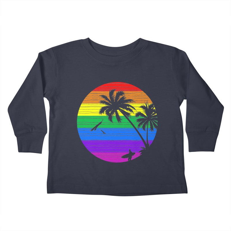 Rainbow Summer Kids Toddler Longsleeve T-Shirt by clingcling's Artist Shop