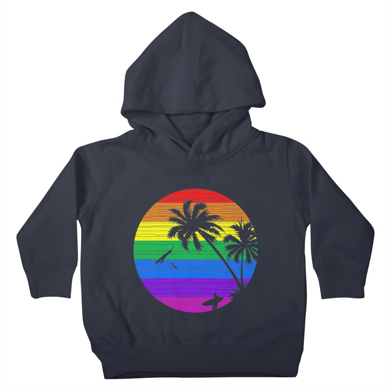 Rainbow Summer Kids Toddler Pullover Hoody by clingcling's Artist Shop